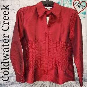 NWT-Coldwater Creek Gorgeous Beaded Blouse, Small